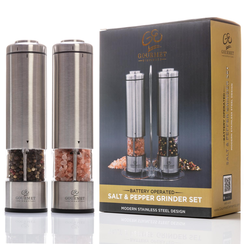 Best Electric Salt And Pepper Grinder Set Gourmet Elements
